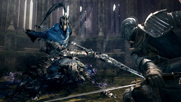 Artorias appears as a formidable boss in the DLC,  tainted by the abyss and out for blood.